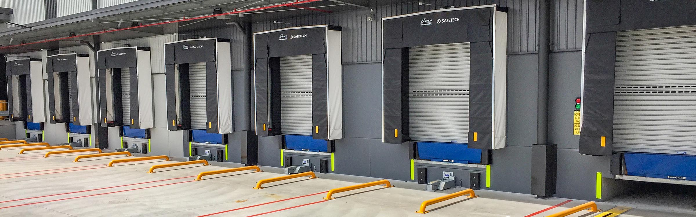 Row of new Safetech Docks