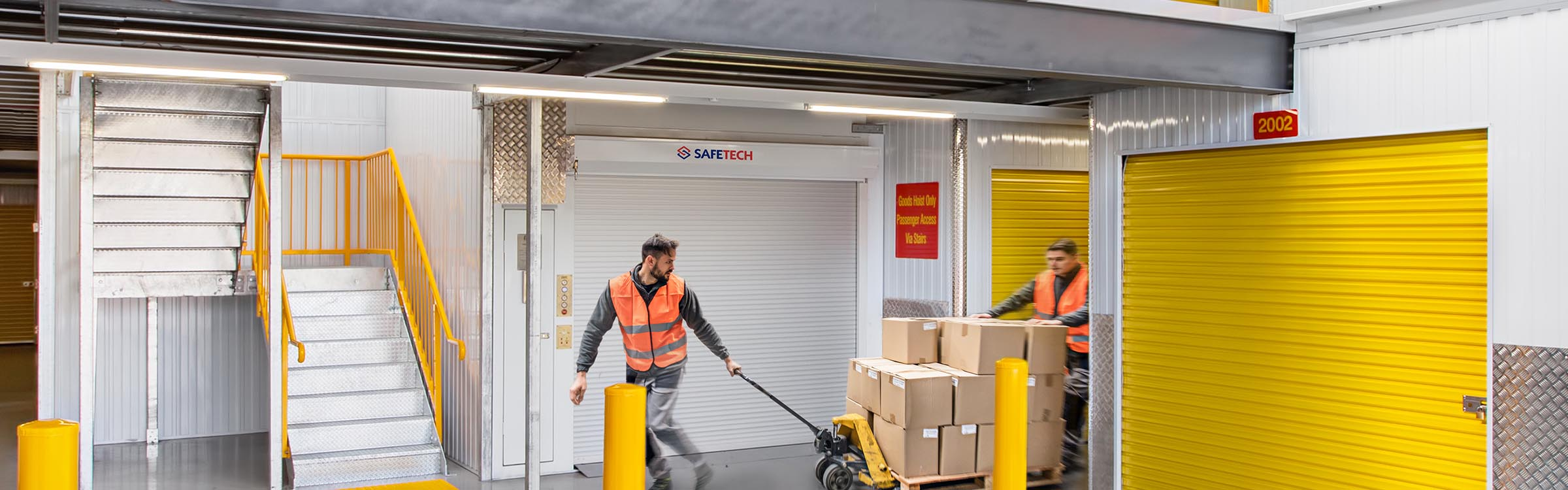 Safetech Freight Hoist in action