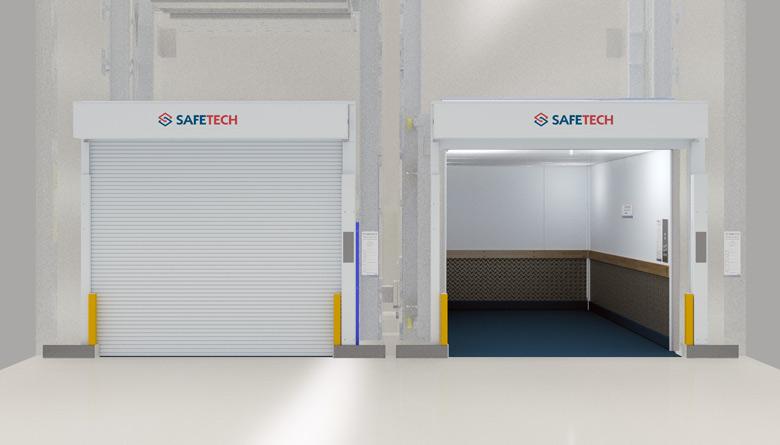 Safetech Freight Hoist twin