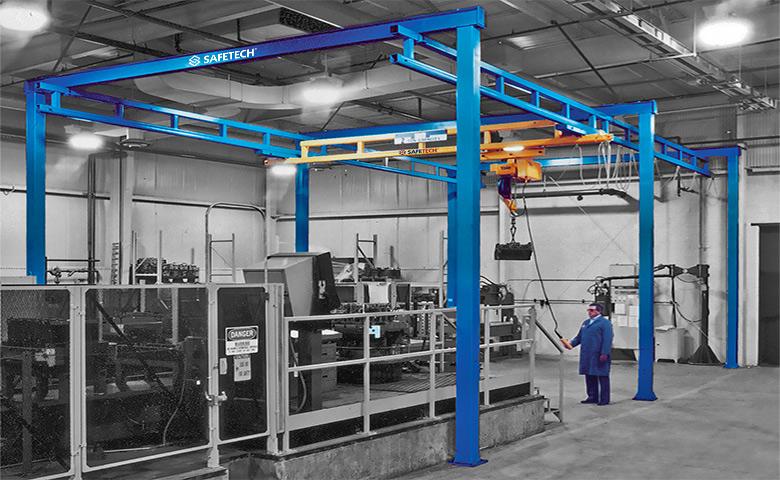 Safetech Gorbel Freestanding Cranes