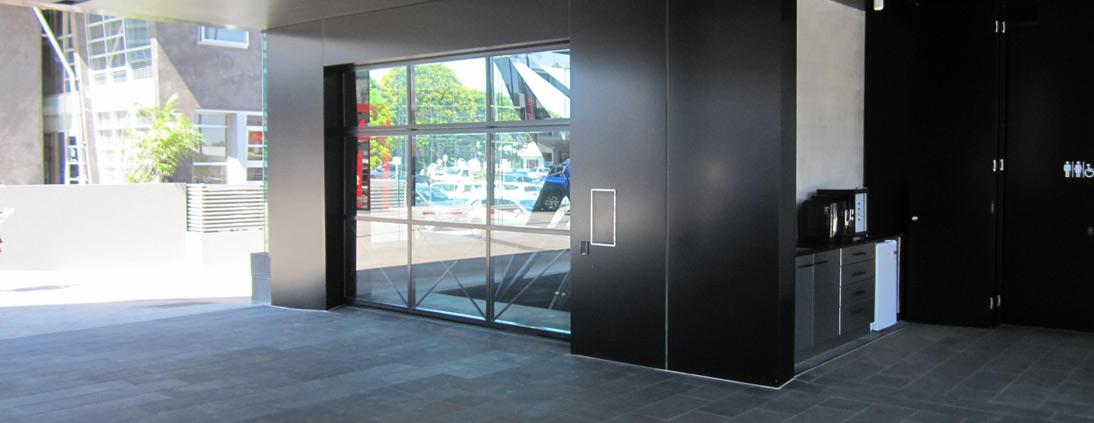 Safetech custom vehicle hoist for Lexus Showroom