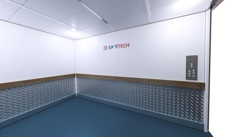 Safetech Self Storage Hoist Interior rendering