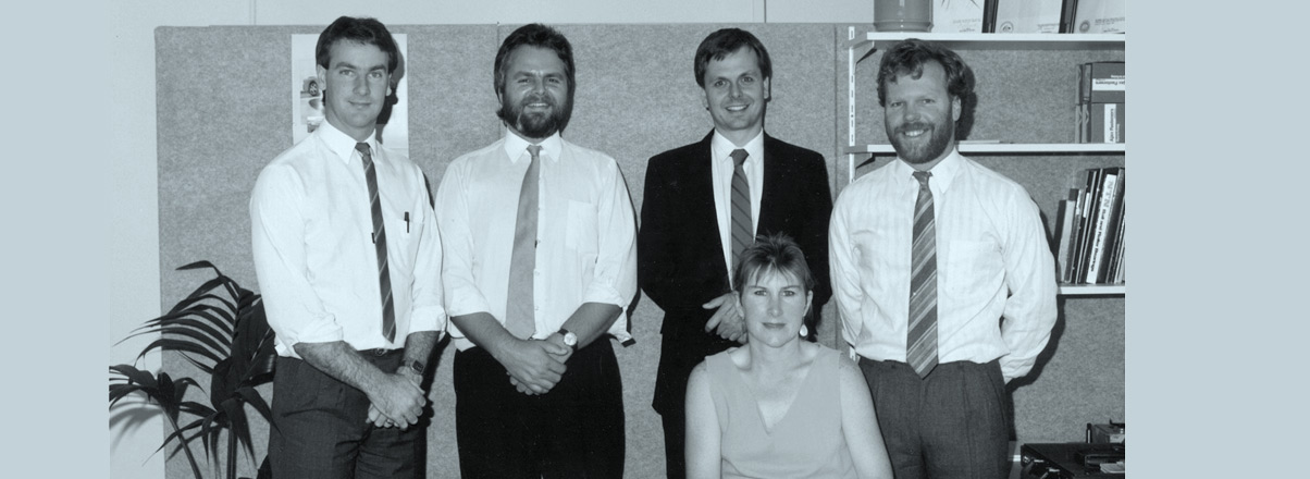 Safetech team in 1984