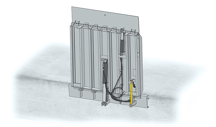 Vertical Dock Leveller Drawing
