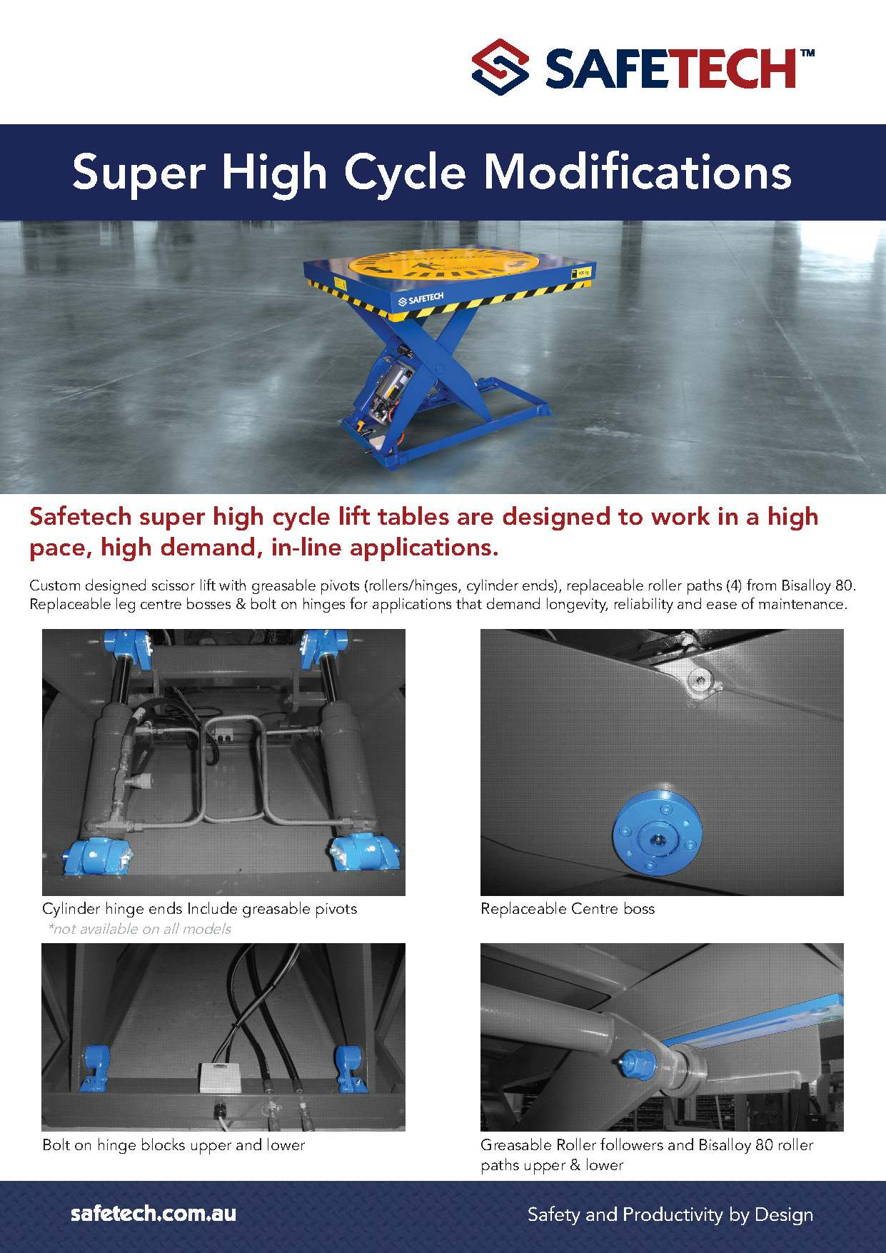 Super High Cycle Lift Platforms